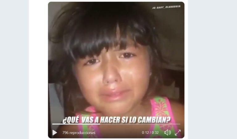 La niña que llora por el adiós de su ídolo cubano (+ Video)