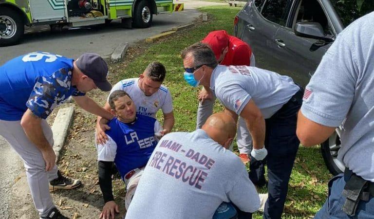 Pelotero cubano recibe fuerte bolazo en el rostro, con graves consecuencias, en Estados Unidos